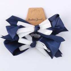 Украшение для волос Резинка Бантик 11,5см набор 2шт 201998 КОКОС синий