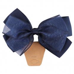 Украшение для волос Резинка Бантик 12,5см 200402 КОКОС синий