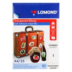 Пленка Lomond 100/A4/25 самокл. прозрач. для струйных  принт. 2700003