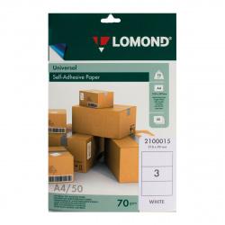 Самоклеящаяся бумага унив. 70/А4/50л 3 деления (210*99) Lomond 2100015