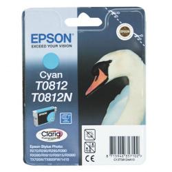 Картридж EPSON T08124A/T11124A10 R270/390/RX590/T50 cyan повыш.емкость -  11ml (o)