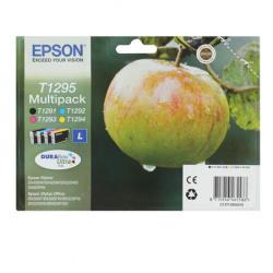 Картридж EPSON T1295 для SX420W/BX305F (1х11,1мл 3х7мл)  набор 4 цвета (о)