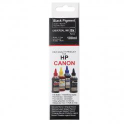Чернила CANON/HP универсал black pigment (100 мл) Revcol в картоне