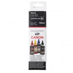 Чернила CANON/HP универсал black Dye (100 мл) Revcol в картоне