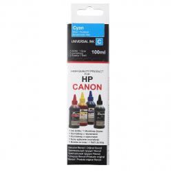 Чернила CANON/HP универсал cyan Dye (100 мл) Revcol в картоне