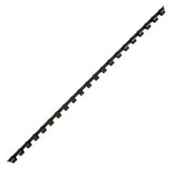 Пружина пластиковая для переплета 6 мм (черные) (1/100)