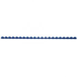 Пружина пластиковая для переплета 8 мм (синие) (1/100)