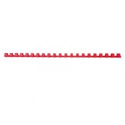 Пружина пластиковая для переплета 10 мм (красные) (1/100)