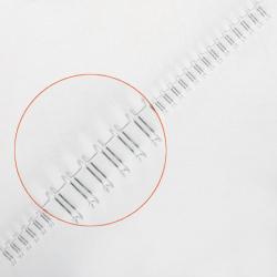 """Пружина металлическая для переплета 9,5 мм 3/8"""" шаг 3:1 (1/100) серебро"""