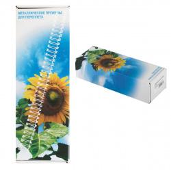 Пружина металлическая для переплета 12,7мм (100 листов), белый, шаг 3:1, 100шт Office Kit