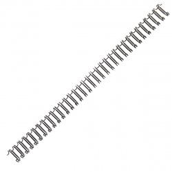 """Пружина металлическая для переплета 12,7 мм 1/2"""" шаг 3:1 (1/100) черные"""