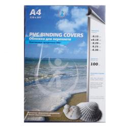 Обложки для переплета пластик прозрачный  А4  0,18 мм (1/100)