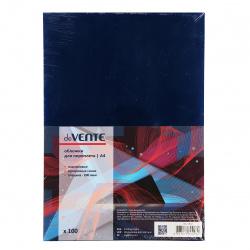 Обложки для переплета ПВХ, 210*297мм (А4), синий, 100шт deVENTE
