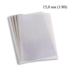 "Термообложки 15,0 мм пластик прозр./картон белый ""глянец"" (1/80)"