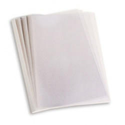 "Термообложки 21,0 мм пластик прозр./картон белый ""глянец"" (1/60)"