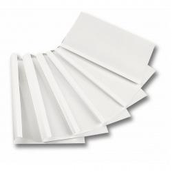 "Термообложки 30,0 мм пластик прозр./картон белый ""глянец"" (1/40)"