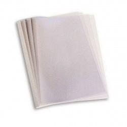 "Термообложки 35,0 мм пластик прозр./картон белый ""глянец"" (1/40)"