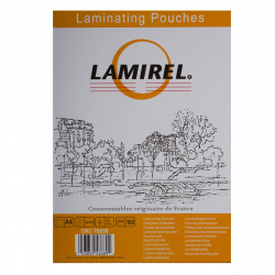 Пленка для ламинир.216*303 А4 (75мк) глянец Lamirel 100шт.