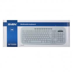Клавиатура SVEN KB-C3050, USB белый глянец