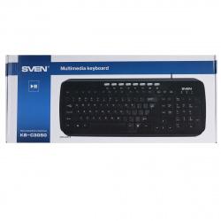 Клавиатура SVEN KB-C3050, USB черный глянец