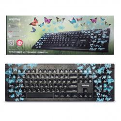 Клавиатура Smartbuy 223 Butterflies мультимедиа USB (SBK-223U-B-FC)