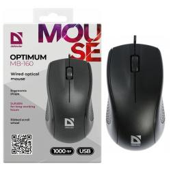 Манипулятор мышь  Defender Optimum MB-160 USB Black