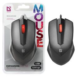 Манипулятор мышь Defender Expansion MB-753 черный, 1200dpi USB