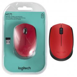 Манипулятор мышь Logitech M171  Wireless mouse red (910-004641)