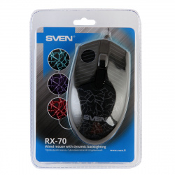 Манипулятор мышь Sven RX-70 USB черная, подсветка