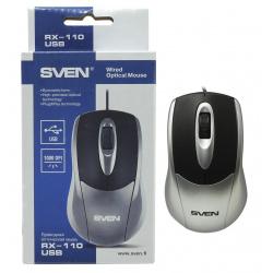 Манипулятор мышь Sven RX-110 USB серебристая