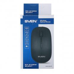 Манипулятор мышь Sven RX-510SW Wireless черная, беззвучная беспроводная