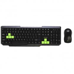 Клавиатура + мышь Smartbuy 230346AG черный/зеленый, беспроводные (SBC-230346AG-KN) /20