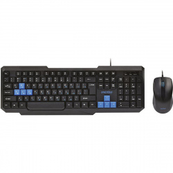 Клавиатура + мышь Smartbuy 230346 черный/синий, проводной (SBC-230346-KB) /20