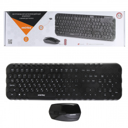 Клавиатура + мышь Smartbuy Honeycomb 642383AG черный (SBC-642383AG-K) /10