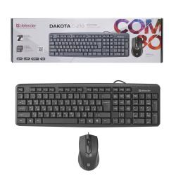 Клавиатура + мышь Defender Dakota C-270 черная проводные