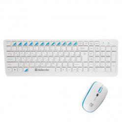 Клавиатура + мышь Defender Skyline 895 Nano W белая беспроводные
