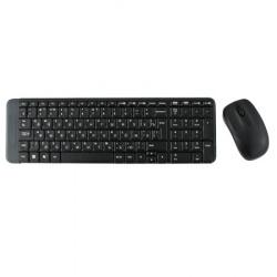 Клавиатура + мышь Logitech MK220 черный, беспроводная