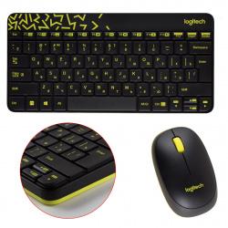 Клавиатура + мышь Logitech MK240 черный, беспроводные