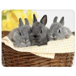 """Коврик для мыши BURO пластиковый  """"кролики"""" 230х180х2 мм (BU-M40092)"""