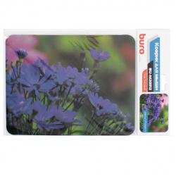 "Коврик для мыши BURO пластиковый  ""цветы"" 230х180х2 мм (BU-M20012)"