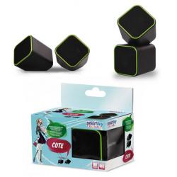 Колонки SmartBuy CUTE, мощность 6Вт, USB, черно-зеленые (SBA-2580)/60