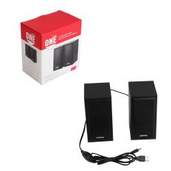 Колонки SmartBuy ONE, мощность 6Вт, USB, черный (SBA-101)/20