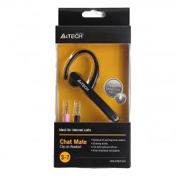 Наушники с микрофоном A4-Tech S-7-1, (крепл. одн.) 2м., черные