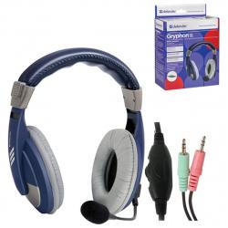 Наушники с микрофоном Defender HN-750, синие, 2 м