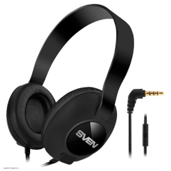 Наушники с микрофоном Sven AP-310M кабель 1,2 м, черные