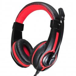 Наушники с микрофоном Oklick HS-L200 черный/красный 2м