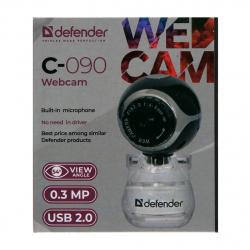 Веб-камера Defender С-090 /сенс 0,3МП/обзор 45°/встр. микр./USB 2.0/фокус ручн./ун. креп