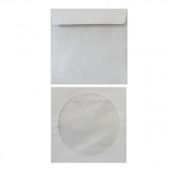 Конверт для CD бумажный, прозрачное окно, клеевой слой 1000 шт. (цена за 1 упаковку) 817963