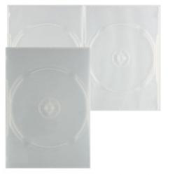 Коробка для 2 DVD slim 7мм прозрачный глянц.