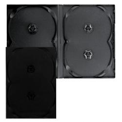 Коробка для 4 DVD черн., глянец